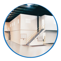 Warehouse swipe card door access control systems
